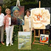 4 kunstenaressen, Annete Rebel, Christa Rosier, Janine van der Kaaij,  Tiny Kruijmer