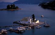 GREECE. Ionian Islands: Corfu.The Church at Vlaherna