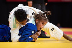 October 8, 2018 - Buenos Aires, ARGENTINA - 181009 2018 Youth Olympic Games, Day 3: Irena Khubulova RUS competes against Sosorbaram Lkhagvasuren MGL during the Judo Womens -52kg Final. The Youth Olympic Games, Buenos Aires, Argentina, Monday 8th October 2018. Photo: Ivo Gonzalez for OIS/IOC. Handout image supplied by OIS/IOC  (Credit Image: © Ivo Gonzalez For Ois/Bildbyran via ZUMA Press)