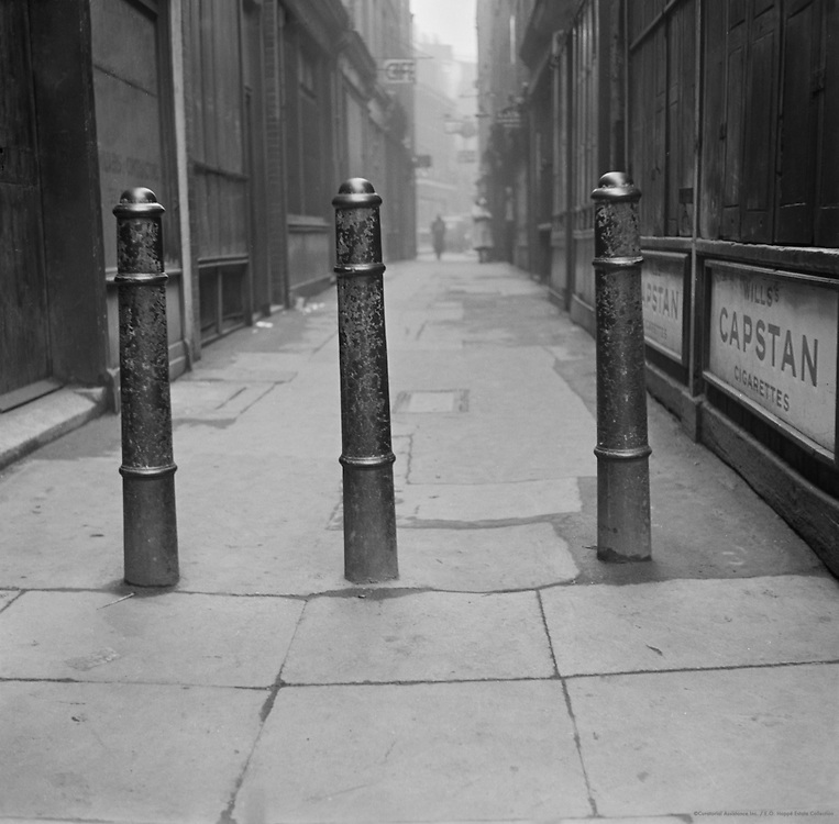 Parts of Cannons in Artillery Lane, London, 1939