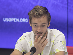 September 8, 2019, Flushing Meadows, New York, United States of America: Daniil Medvedev attends a press conference after losing the Men Singles Finals match against Rafael Nadal on Day 14 of the 2019 US Open at USTA Billie Jean King National Tennis Center on Sunday September 8, 2019 in the Flushing neighborhood of the Queens borough of New York City. Nadal defeats Medvedev, 7-5, 6-3, 5-7, 4-6, 6-4. JAVIER ROJAS/PI (Credit Image: © Prensa Internacional via ZUMA Wire)