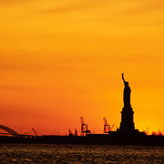 The Statue of Liberty at sunset, 1998
