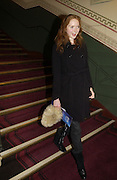 Lily Cole. The premiere for the new Cirque Du Soleil production, Alegria, at the Royal Albert Hall and party afterwards in the Kensington Roofgarden. London.  5 January 2006. ONE TIME USE ONLY - DO NOT ARCHIVE  © Copyright Photograph by Dafydd Jones 66 Stockwell Park Rd. London SW9 0DA Tel 020 7733 0108 www.dafjones.com