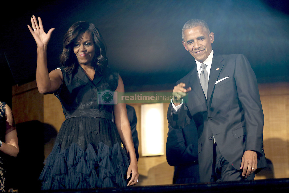 Barack Obama and Michelle Obama beim Empfang im Weissen Haus zur Einweihung des neuen Museums für Afroamerikanische Geschichte und Kultur in Washington <br /> <br /> / 240916<br /> <br /> *** Opening ceremony of the Smithsonian National Museum of African American History and Culture on September 24, 2016 in Washington, DC ***