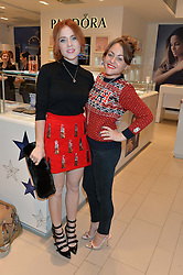 Left to right, ANGELA SCANLON and JAIME WINSTONE at the #PandoraWishes Campaign Launch Event, Pandora Marble Arch flagship store, London on 12th November 2014.
