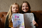 07/04/2019 repro free: 8 year olds Ava Ni Aonghusa and Clara Ní Oireachtaigh  from Oranmore at Scriobh Leabhair organised by The Galway Education centre and help at the Salthill Hotel  . Photo: Andrew Downes, Xposure
