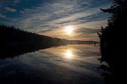 Sunrise at Reid Harbor, Stuart Island, Washington, US
