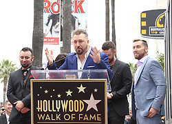 NSYNC receives a star on the Hollywood Walk of Fame. 30 Apr 2018 Pictured: Justin Timberlake, Joey Fatone, Chris Kirkpatrick, Lance Bass, JC Chasez, NSYNC. Photo credit: Jaxon / MEGA TheMegaAgency.com +1 888 505 6342