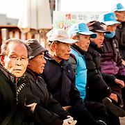 Pensioners congregate at Gupo Market in Busan, South Korea, December 10, 2013.