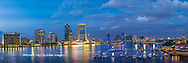 63412-01018 St. Johns River and Jacksonville Florida skyline at twilight Jacksonville, FL
