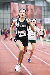 womens 400 meter, heat 3, Northeastern<br /> BU John Terrier Classic <br /> Indoor Track & Field Meet