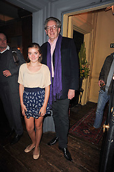 LARA PRINCE and MICHAEL HOUSE at a party to celebrate the publication of Kitchenella by Rose Prince held at Blacks, 67 Dean Street, London W1 on 16th September 2010.
