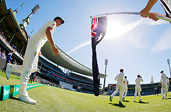 Australia's Shaun Marsh takes the field during day two of the Ashes Test match at Sydney Cricket Ground.