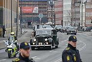 20.02.2018. Copenhagen, Denmark. <br /> The Royal Family arrive to Christiansborg Palace Church to the funeral of Prince Henrik. Photo: Ricardo Ramirez.