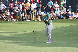 August 12, 2018 - Town And Country, Missouri, U.S - FRANCESCO MOLINARI from Italy hits  from the 18th fairway during round four of the 100th PGA Championship on Sunday, August 12, 2018, held at Bellerive Country Club in Town and Country, MO (Photo credit Richard Ulreich / ZUMA Press) (Credit Image: © Richard Ulreich via ZUMA Wire)