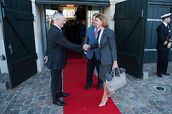 Secretary of Defense Jim Mattis and Danish Minister of Defence Claus Hjort Frederiksen welcome Maria Dolores de Cospedal Garcia, Spain's minister of defence, to a Global Coalition on the Defeat of ISIS meeting at Eigtveds Pakhus in Copenhagen, Denmark, May 9, 2017. (DOD photo by U.S. Air Force Staff Sgt. Jette Carr)