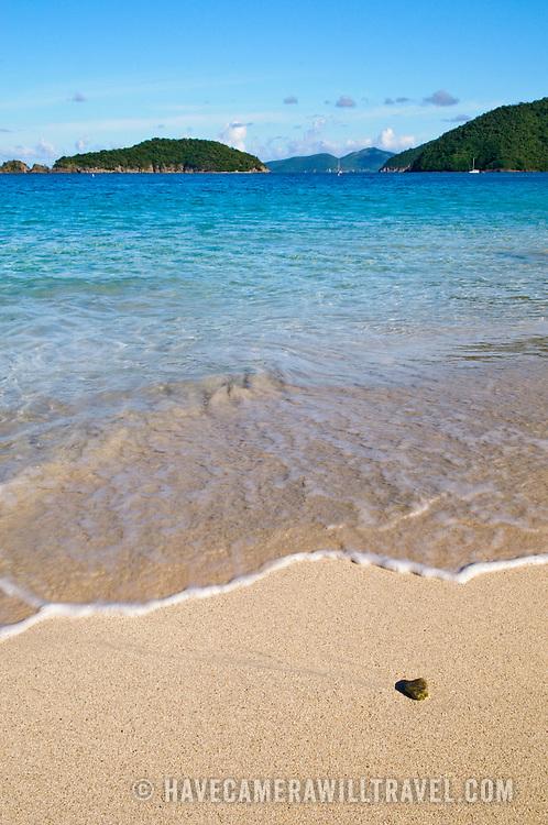 Cinnamon Bay, a beautiful tropical beach on the island of St. John in the U.S. Virgin Islands in the Caribbean