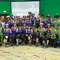 Rainy City Roller Derby's Tender Hooligans take on Romsey Town Rollerbillies at The Castle Leisure Centre, Bury in the British Champs 2017 Tier 2 North Finals, 2017-08-05