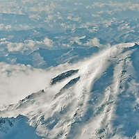 Mt. Rainier from above. Photo by William Byrne Drumm.