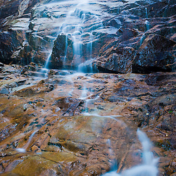 Arethusa Falls in Crawford Notch State Park in New Hampshire's White Mountains.