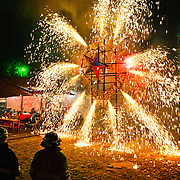 Fireworks in Chichicastenango / Guatemala