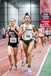 womens 3000 meters, heat 4, Dartmouth, Glover<br /> BU John Terrier Classic <br /> Indoor Track & Field Meet