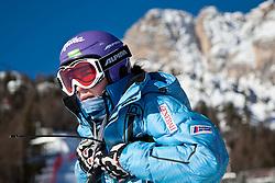 23.01.2011, Tofana, Cortina d Ampezzo, ITA, FIS World Cup Ski Alpin, Lady, Cortina, SuperG, im Bild Tina Maze (SLO, #14) bei der Besichtigung // Tina Maze (SLO) during FIS Ski Worldcup ladies SuperG at pista Tofana in Cortina d Ampezzo, Italy on 23/1/2011. EXPA Pictures © 2011, PhotoCredit: EXPA/ J. Groder