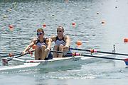 2005, World Rowing Championships, Nagaragawa International Regatta Course, Gifu, JAPAN: Monday  29.08.2005. USA M2X Bow - Sloan Du Ross and Samuel Stitt.  © Peter Spurrier/Intersport Images - email images@intersport-images.com