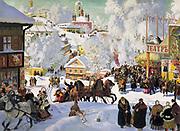 Boris Kustodiev (1878–1927) Russian painter. Maslenitsa, 1919. Oil on canvas