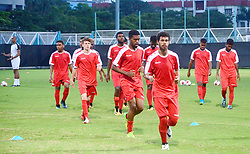 October 13, 2017 - Kolkata, West Bengal, India - Players of the New Caledonia football team during a practice session ahead of their match at FIFA U 17 World Cup India 2017. (Credit Image: © Saikat Paul/Pacific Press via ZUMA Wire)