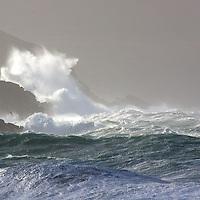 Stormy irish weather at southwest coastline of County Kerry, Ireland / sm011