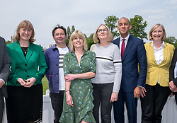 © Licensed to London News Pictures. 16/05/2019. Bath, Bath and North East Somerset, UK. RACHEL JOHNSON (green dress) with other Change UK MEP candidates and Change UK MPs including CHUKA UMUNNA at a Change UK - The Independent Group rally at Bath Cricket Club as part of campaigning in the elections for the European Parliament. Rachel Johnson is the lead Change UK candidate for south west England. Photo credit: Simon Chapman/LNP