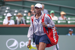 March 7, 2019 - Indian Wells, CA, U.S. - INDIAN WELLS, CA - MARCH 07: Venus Williams (USA) walks onto the court during the BNP Paribas Open on March 7, 2019 at Indian Wells Tennis Garden in Indian Wells, CA. (Photo by George Walker/Icon Sportswire) (Credit Image: © George Walker/Icon SMI via ZUMA Press)