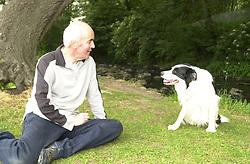 Eddie Sander with his Dogs Jackson and Inka<br /><br />18 June 2004<br /><br />Copyright Paul David Drabble<br /> [#Beginning of Shooting Data Section]<br />Nikon D1 <br /> Focal Length: 23mm<br /> Optimize Image: <br /> Color Mode: <br /> Noise Reduction: <br /> 2004/06/18 10:20:32.3<br /> Exposure Mode: Programmed Auto<br /> White Balance: Auto<br /> Tone Comp: Normal<br /> JPEG (8-bit) Fine<br /> Metering Mode: Multi-Pattern<br /> AF Mode: AF-S<br /> Hue Adjustment: <br /> Image Size:  2000 x 1312<br /> 1/90 sec - F/4.8<br /> Flash Sync Mode: Front Curtain<br /> Saturation: <br /> Color<br /> Exposure Comp.: 0 EV<br /> Auto Flash Mode: External<br /> Sharpening: Normal<br /> Lens: 17-35mm F/2.8-4<br /> Sensitivity: ISO 200<br /> Image Comment: <br /> [#End of Shooting Data Section]