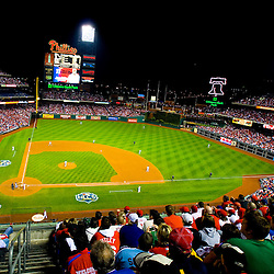 View behind home plate at the 2009 NCL game at citizens bank park