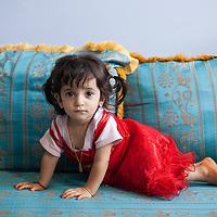 Daughter in the house of Hamdan Ali Hous, Jabal Akhdar.