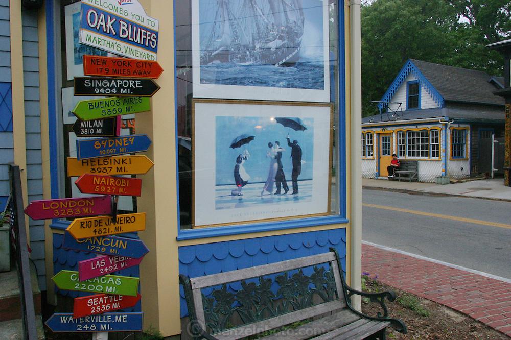 Oak Bluffs on Martha's Vineyard, Massachusetts.