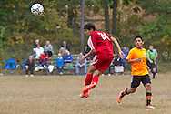 Spring Valley, New York - North Rockland plays Spring Valley in a varsity boy's soccer game on Oct. 2, 2014.