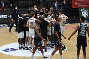 Basketball: Deutschland, 1. Bundesliga, Hamburg Towers -  Alba Berlin, Hamburg, 23.03.2021<br /> Jubel Hamburg Towers - Enttäuschung bei Alba Berlin<br /> © Torsten Helmke
