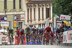 Sprint (left winner Francesco Chicchi of Italia (Liquigas)) at the end of last 4th stage of the 15th Tour de Slovenie from Celje to Novo mesto (157 km), on June 14,2008, Slovenia. (Photo by Vid Ponikvar / Sportal Images)/ Sportida)