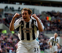 Photo: Jed Wee.<br />Sunderland v Newcastle United. The Barclays Premiership. 17/04/2006.<br /><br />Newcastle substitute Michael Chopra celebrates after scoring with his first touch of the ball.