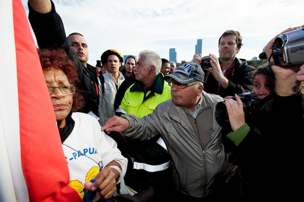 Foto: Gerrit de Heus. Den Haag. Maliveld. 26-10-2013. Demonstratie voor Zwarte Piet.