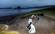 """26-1-2014: Julie Ormonde of the Kerry Dark Sky group pictured on Ballinskelligs Beach observing the sky  at the weekend.<br /> Picture by Don MacMonagle<br /> Story by Majella O""""Sullivan"""