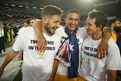 Australia Vs Honduras world cup qualifier, intercontinental Playoff. 15 Nov 2017 Pictured: Mathew Leckie, Tim Cahill, Robbie Kruse. Photo credit: MEGA TheMegaAgency.com +1 888 505 6342