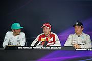 March 27-29, 2015: Malaysian Grand Prix - Sebastian Vettel (GER), Ferrari, Lewis Hamilton (GBR), Mercedes. Nico Rosberg  (GER), Mercedes