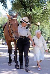 Ranger O'bannon & Aja Helping Mrs. Cotter