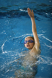Boy swimming in a pool.  (Photo by: Vid Ponikvar / Sportal Images).