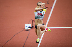 Kristin Gierisch of Germany competes in the Triple Jump Women Qualification on day one of the 2017 European Athletics Indoor Championships at the Kombank Arena on March 3, 2017 in Belgrade, Serbia. Photo by Vid Ponikvar / Sportida