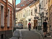 Litwa, Wilno, 08.07.2014. Wilno - stolica Litwy, centrum miasta.