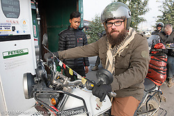 Bear Haughton on day-9 of our Himalayan Heroes adventure riding from Pokhara to Nuwakot, Nepal. Wednesday, November 14, 2018. Photography ©2018 Michael Lichter.